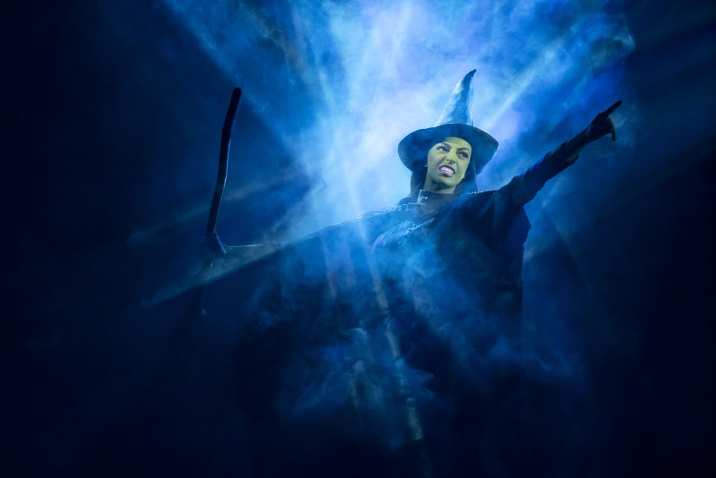 Talia Suskauer as Elphaba in WICKED presented by Broadway On Tour at the SAFE Credit Union Performing Arts Center March 30 – April 24, 2022. Photo by Joan Marcus.