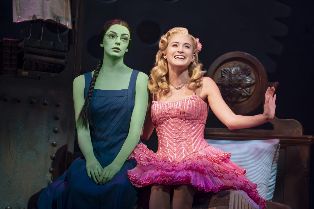 Allison Bailey and Talia Suskauer in WICKED presented by Broadway On Tour at the SAFE Credit Union Performing Arts Center March 30 – April 24, 2022. Photo by Joan Marcus.