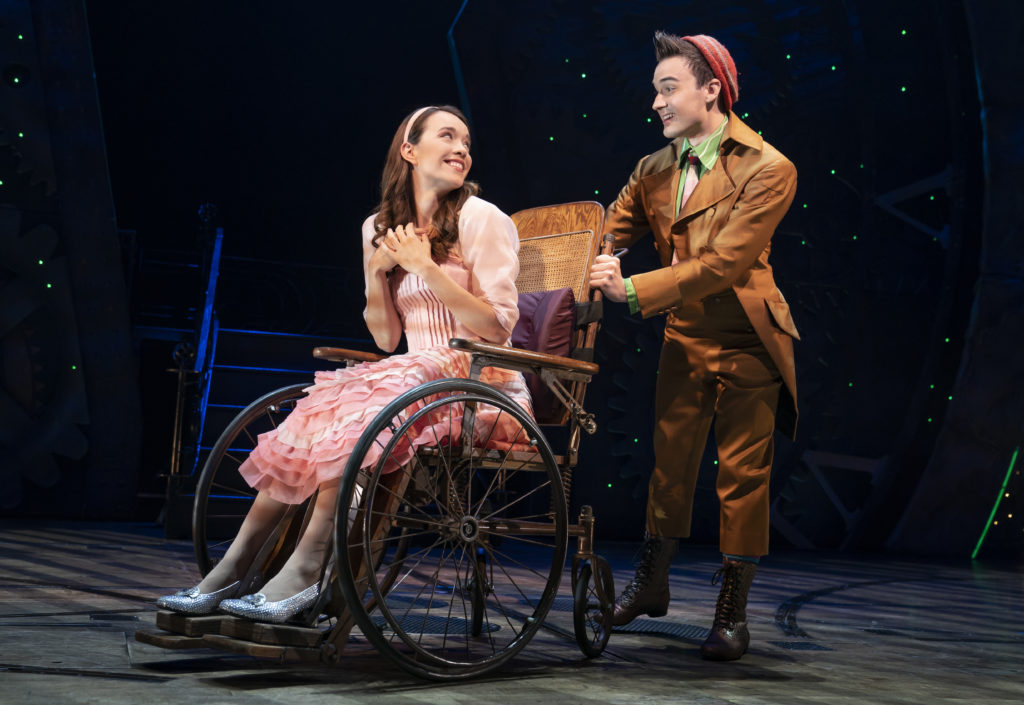 Amanda Fallon Smith and DJ Plunkett in WICKED presented by Broadway On Tour at the SAFE Credit Union Performing Arts Center March 30 – April 24, 2022. Photo by Joan Marcus.