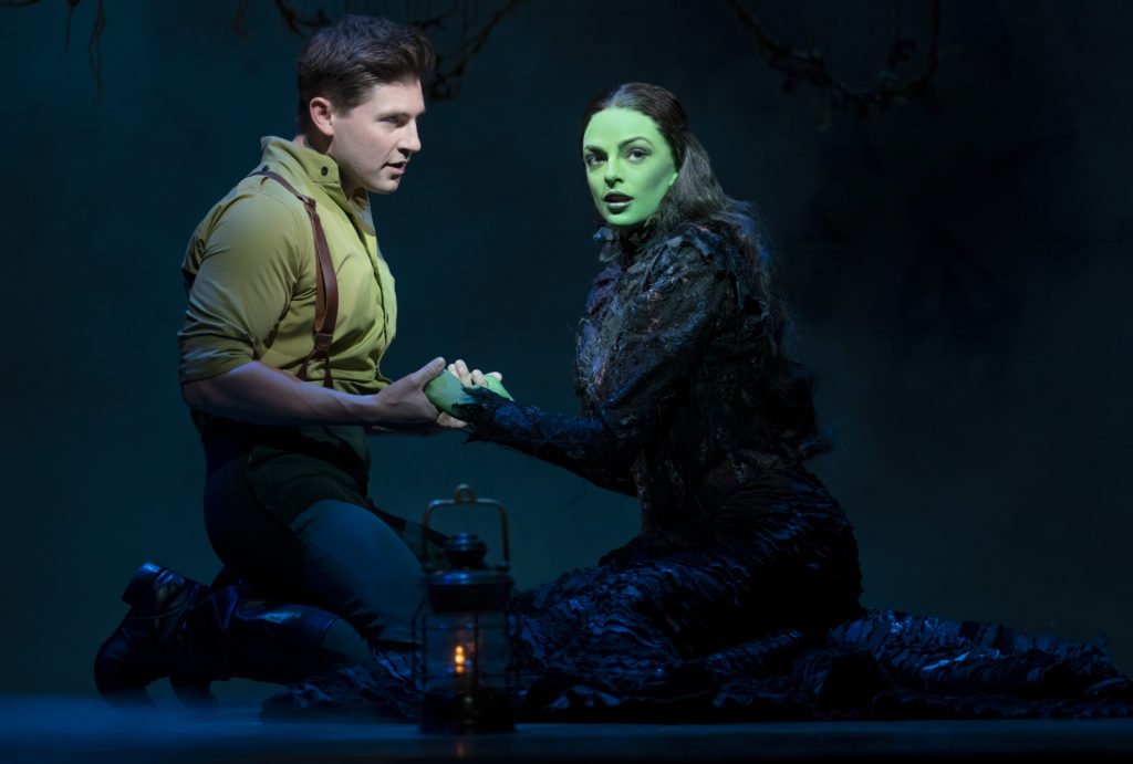 Curt Hansen and Talia Suskauer in WICKED presented by Broadway On Tour at the SAFE Credit Union Performing Arts Center March 30 – April 24, 2022. Photo by Joan Marcus.